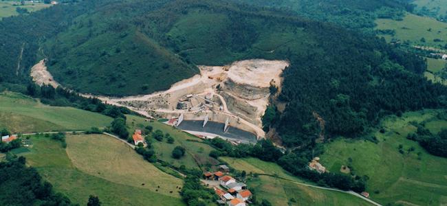 Vista aerea preparacion del inicio de Cantera Solis.