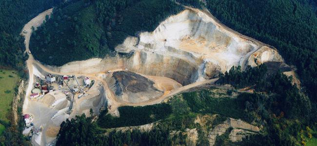 Vista aera de Explotaciones Mineras Solis