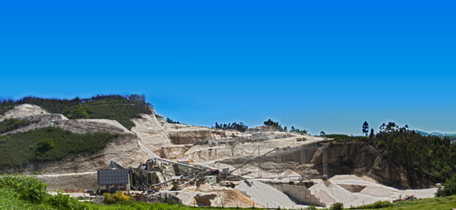Panoramica de la explotacion de Cantera Solis